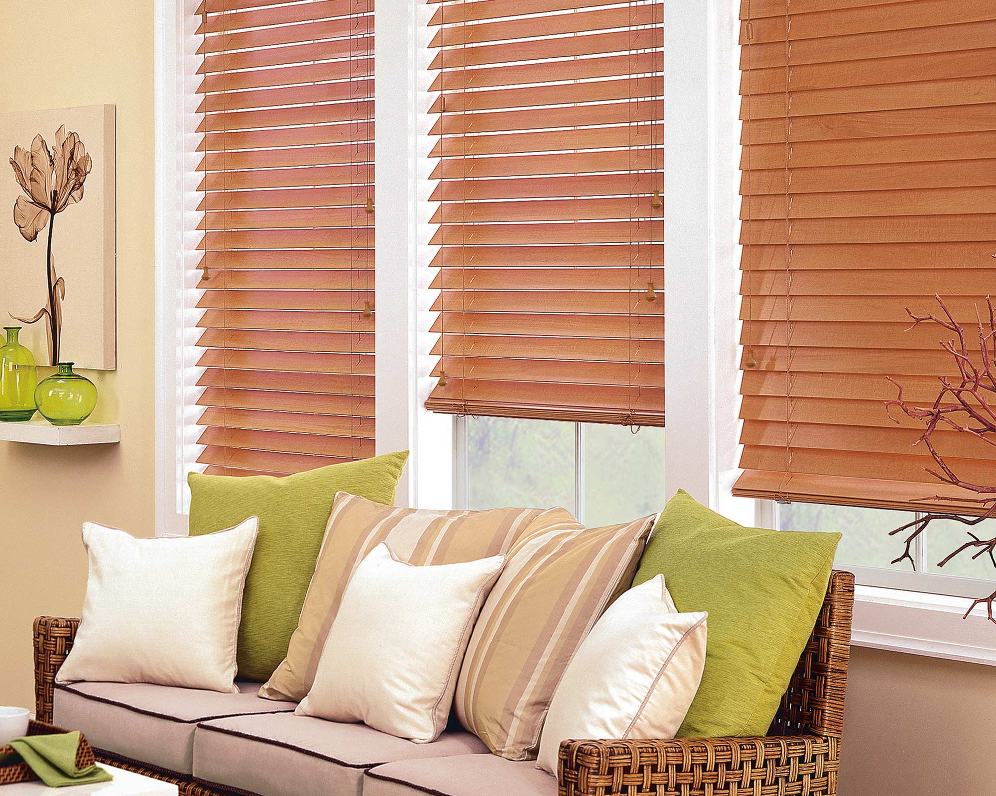 FAUX OR <br />REAL WOOD BLINDS