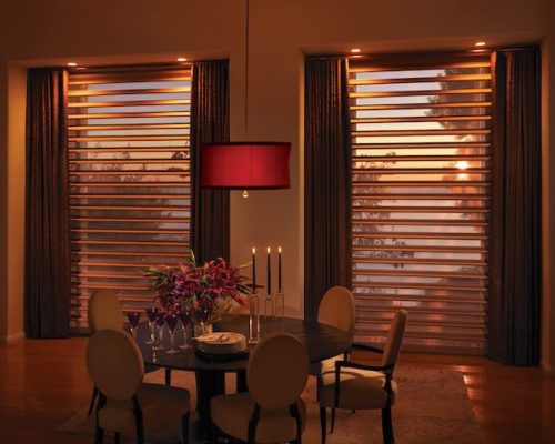 Pirouette WIndow Shadings Dining Room