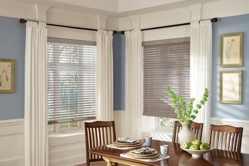 Room darkening shades Parkland shutters