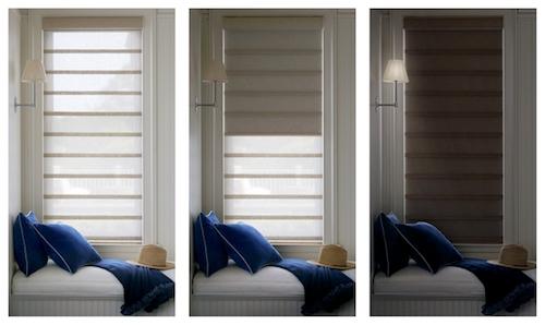 Room darkening shades Vignette Duolite