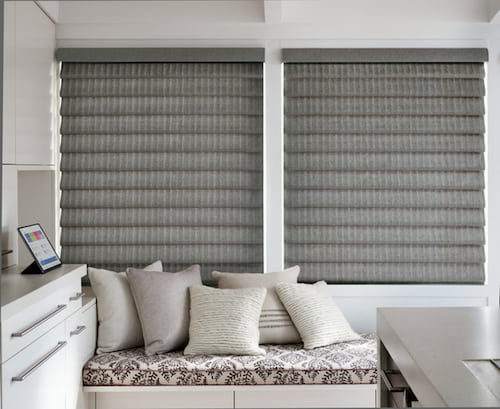 Gray Roman Shades Brooklyn Tweed Fabric