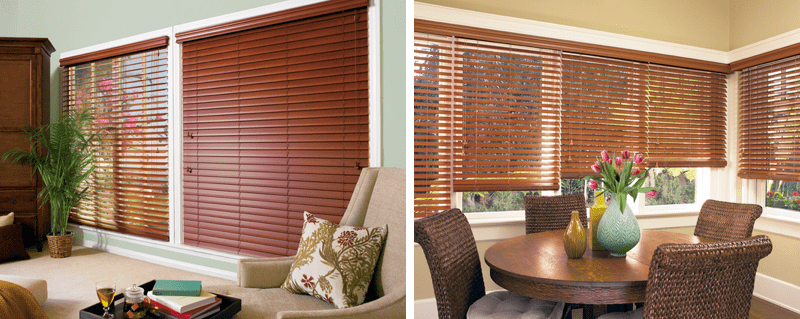 Everwood wood window blinds