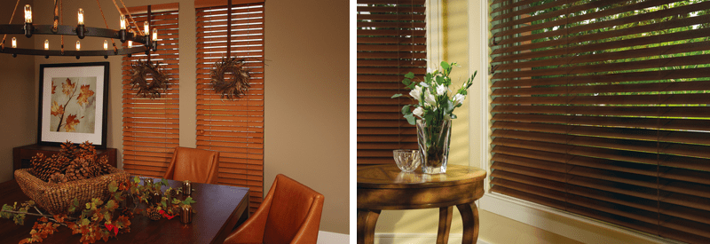 Wood window blinds are perfect for this fall