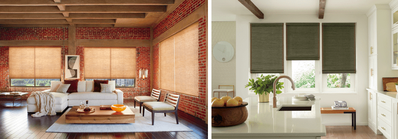 Natural woven wood window blinds