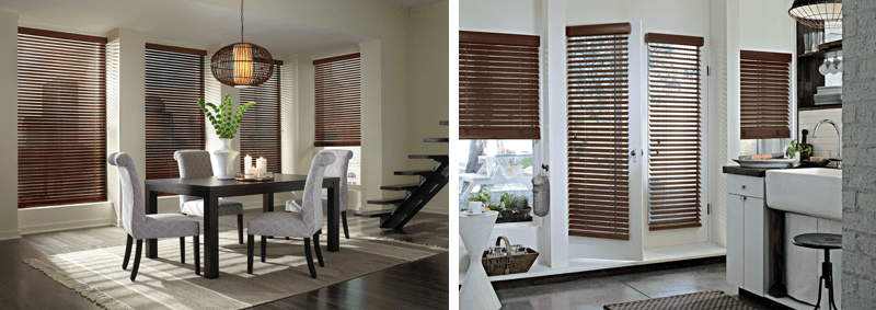 Wood window blinds in any rooms