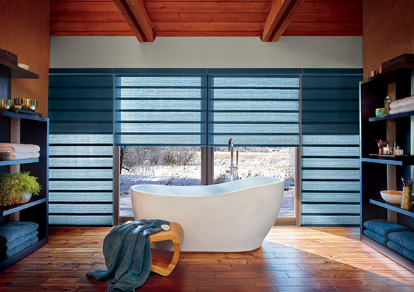Hunter Douglas modern fabric roman shades