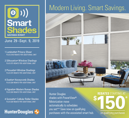 Hunter Douglas automated shades sale