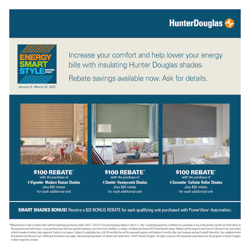 2021 Hunter Douglas Shades Sale