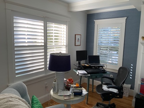 Hunter Douglas Hinged Panel Shutters Home Office